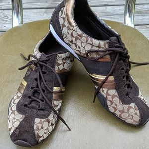 Coach lace up sneakers size 6